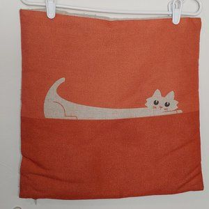 Vintage Mod Cat Tweed Pillowcase